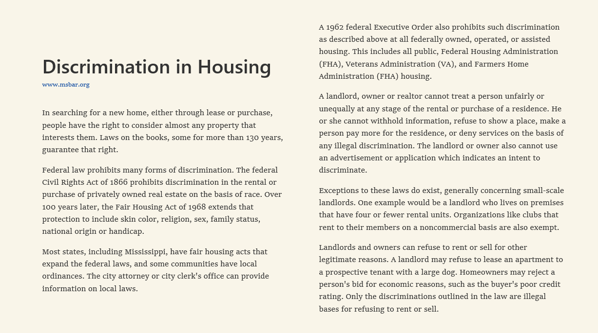 Descrimination-in-housing
